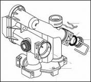 CM1301956 левая часть гидроблока (Elexia)